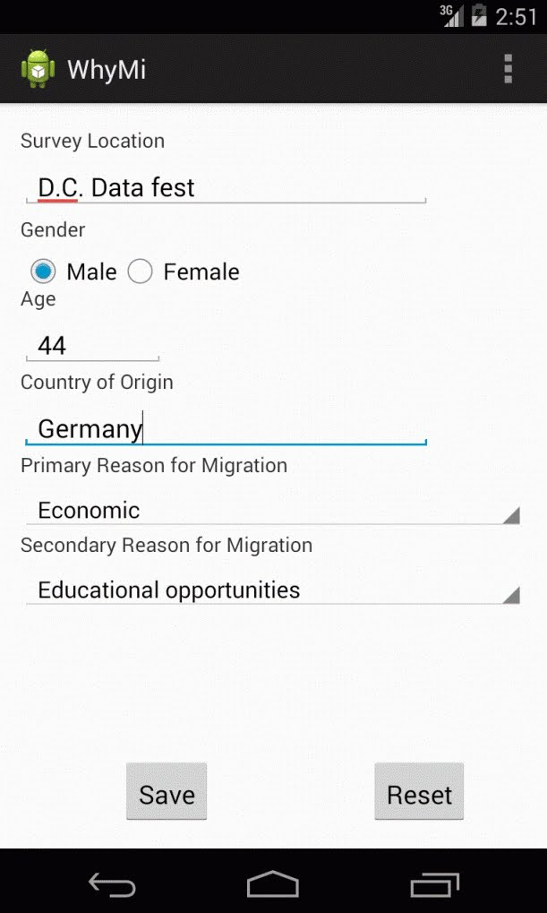 WhyMi Android App Screenshot